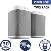 Sonos Play 1 Wifi Speakers Set For Streaming Music White 2 Pack