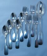 Gorham Old English Tipt 5 Teaspoons 4 Salad Forks And A Serving Spoon