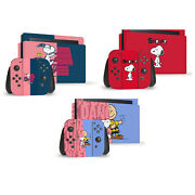 Official Peanuts Character Graphics Vinyl Skin Decal For Nintendo Switch Bundle