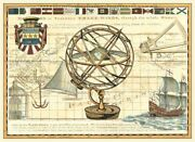 Art-print-nautical-map-i-vision-horizontal-43x31in-image-on-paper-canvas