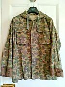 Genuine Vintage Austrian Army Short Hooded Camo Jacket, Later Model, 48