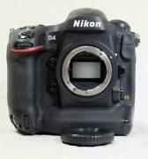 Nikon D4 16.2mp Full Frame Dslr Camera W/ Battery No Charger- Must Read 5455