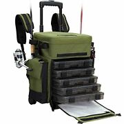 Outdoors Rolling Fishing Tackle Box X-large Waterproof Storage Bag Backpack Gift