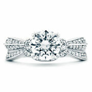 1.40 Ct Natural Diamond Engagement Rings For Her 14k White Gold Size 5 6.5 7 8 9