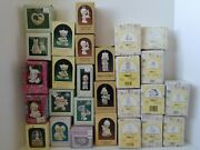 Lot Of 27 Vintage And Retired 80's- 90's Precious Moments Christmas Ornaments +