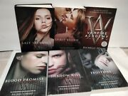 Richele Mead Book Lot Of 6 Vampire Academy Complete Series 1-6 Frostbite Blood