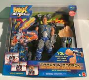 Mattel 2000 Max Steel Track And Attack With Infrared Remote Control 27793 New