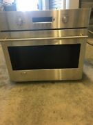 Ge Monogram Zet1smss 30 In Single Electric Wall Oven 4.4 Cu Ft