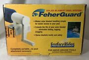 Feher Guard Surface Rider Above Ground Pool Solar Cover Reel Kit New In Open Box