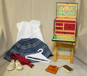 American Girl Doll Josefina School Desk With Accessories Outfit Shoes Retired Pc