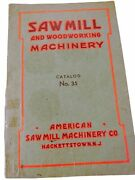 Vintage 1935 Book- Sawmill And Woodworking Machinery- Catalog No 35- Hackettstown
