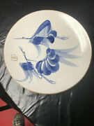 Large Asian Shallow Centerpiece Plate / Bowl With Birds