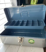 Vintage Watertite Union Steel Chest Tool Box Fishing Tackle Storage