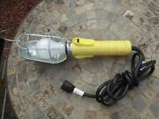Very Nice Work Shop Light, Metal Cage Safety Lamp, 120v Trouble, Drop Light