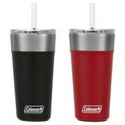 Coleman Stainless Steel 20oz Tumbler W/straw 2 Pack 15 Hours Insulated Bpa Free