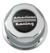 American Racing Center Cap Snap-on Dome Chrome Plastic 1307100 Are Logo