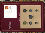 Coin Sets Of All Nations Israel W/c 1980-1982 Unc 1 Sheqal 1981 10,5 Sheqalim 82