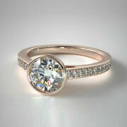 Christmas Sale Solid 18k Rose Gold 0.70 Ct Real Diamond Engagement Ring 5 6 7 8
