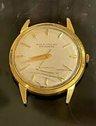 Vintage Nivada Grenchen Antarctic Menand039s Gold 750 18k Gold Watch