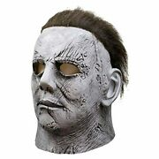 Michael Myers 2018 Mask Horror Movie Halloween Cosplay Costume W/ Synthetic Hair