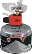 Coleman Peak 1 Backpacking Stove And 220g Isobutane Fuel Camping Hiking Survival