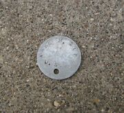 Wwi Aef Us Army Dog Tag Single M1917, 32nd Division 127th Infantry Illinois
