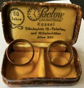 Antique Wedding Rings 1897 France Copper Rarity