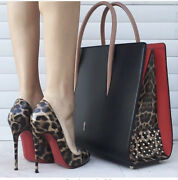Christian Louboutin Paloma Large Spiked Leather Tote Bag. Sold Out Everywhere