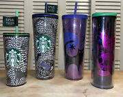 Starbucks Halloween Limited 2020 Glow In The Dark Skull Setandnbsp4 Cups Long Sold Out