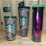 Starbucks Halloween Limited 2020 Glow In The Dark Skull Setandnbsp3 Cups Long Sold Out