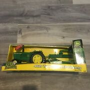 Tomy John Deere 4020 Tractor Toy W/ Attachments New/damaged Box