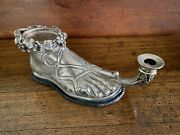 French Empire Silver Roman Foot Chamberstick Candlestick Feet Neoclassical Tour