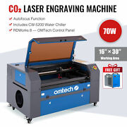 Omtech 70w 16x30 Co2 Laser Engraver Cutter Marker With Cw5200 Water Chiller