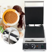 Commercial Electric Ice Cream Waffle Cone Baker Non-stick Pancake Maker Machine