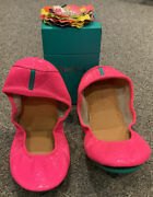 New In Box Limited Edition Pop Pink Neon Tieks Ballet Flats Shoes Sz. 10