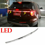 For Ford Explorer 2015-19 Car Led Badge Rear Trunk Tailgate Molding Trim Replace