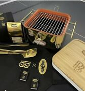 Ben Baller X Kingsford Ntwrk Exclusive Gold Played Bbq Grill Set Le 50 In Hand