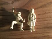 Marx 1950s Roy Rogers Dale Evans, Western Town Figures White Excellent Wow