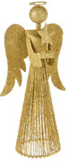 Christmas Tree Topper 33cm Tall Gold Fairy Angel Decoration Treetop Ornaments