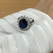 Sale 3.48 Ct Diana Diamond Ring Solid 14k White Gold Band Size 5 7 8 9