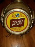 Vintage 1970and039s Schlitz Beer Rotating Hanging Light Advertising Sign - Cheapest