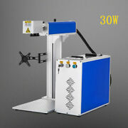 30w Fully Automatic Fiber Laser Marking Machine +80mm Rotary Axis Jewelry Marker