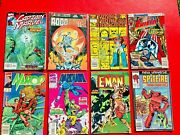 Vintage Comic Book Lot 8 Different Collectible Old Comic Books Marvel Etc