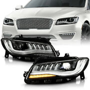 [full Led]replacement Projector Headlights Pair W/afs For 2018-2020 Lincoln Mkz