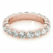 3.40 Ct Real Diamond Engagement Rings For Women 14k Solid Rose Gold Size 5 6 7 8