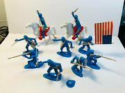 Lot Of Ring Hand Civil War Union Soldiers With Marx Accessories