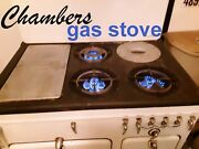 Vintage Chambers Gas Stove 1930andrsquos- White And Black And Powerful