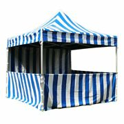 Commercial Pop Up Canopy Tent 10x10 Blue With Sidewalls 5 Height Positions 50mm