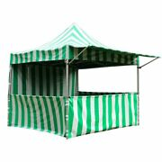Commercial Pop Up Canopy Tent 10x10 Green With Sidewalls 5 Height Positions 50mm