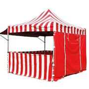 Commercial Pop Up Canopy Tent 10x10 Red With Sidewalls 5 Height Positions 50mm